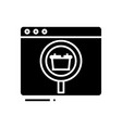 searching goods black icon concept vector image vector image