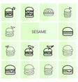 sesame icons vector image vector image
