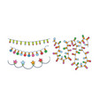set different christmas garlands colorful vector image vector image