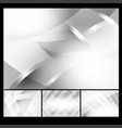 set of gray and white geometric abstract vector image vector image