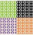 Set of seamless patterns with stripy ornament vector image