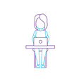 silhouette profesional businesswoman with laptop vector image vector image