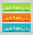 small town and village silhouettes multicolored vector image