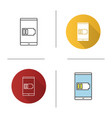 smartphone low battery icon vector image vector image