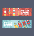 summer vacation on beach vector image vector image