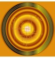 Technical Abstract golden circle background vector image vector image