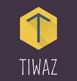 Tiwaz rune of Elder Futhark in trend flat style vector image vector image