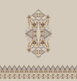 tribal decorative pattern with border vector image vector image
