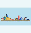 urban landscape with modern buildings vector image vector image