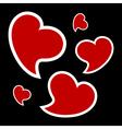 valentines card - three hearts vector image