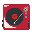 vinyl record player icon vector image vector image