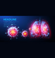 virus and lung abstract 3d corona microbe vector image vector image