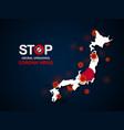 virus around japan vector image vector image