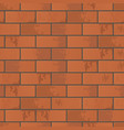 wall of red brick vector image vector image