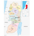 west bank administrative and political map vector image vector image
