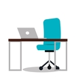 work place office icon vector image
