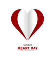 world heart day cutout design for health care vector image