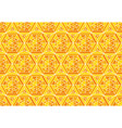 yellow mosaic geometry seamless pattern vector image vector image