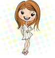 Cute smiling fashion baby girl vector image
