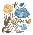 Vintage Fall Flowers Set vector image