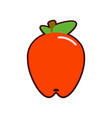 apple flat icon food and fruit graphics vector image
