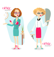 with attractive business woman vector image