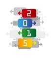 2015 color backgrund vector image vector image