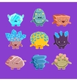 Alien Fantastic Golem Characters Of Different vector image vector image