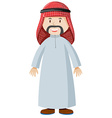 Arab man in costume vector image