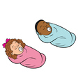 babies bundled girl boy vector image vector image