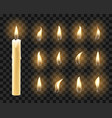 candles with warm candlelight vector image