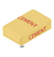 cement icon isometric 3d style vector image vector image