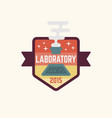 chemistry laboratory isolated colored badge vector image