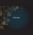 christmas decoration with snowflake light vector image