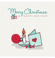 christmas new year cute cartoon decoration card vector image vector image