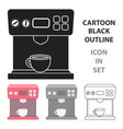 coffeemaker icon in cartoon style isolated on vector image vector image