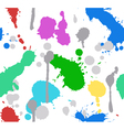 color splash paint seamless vector image