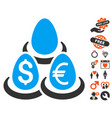currency deposit diversification icon with love vector image vector image