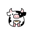 Cute cow coffee tea cup drink cartoon logo icon