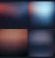 dark blurred background set design vector image vector image
