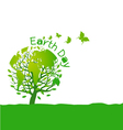 Earth day design on white background vector image