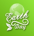 Earth Day Words Planets and Leaves vector image vector image