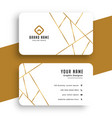 elegant white and gold business card template vector image vector image