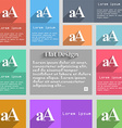 enlarge font aa icon sign set multicolored