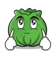 eye roll cabbage cartoon character style vector image vector image