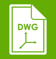 file dwg icon green vector image vector image