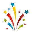 Firework flat icon vector image vector image