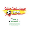 flag of spain and football fans vector image vector image