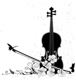 floral musical composition with violin vector image