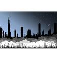 fog city vector image
